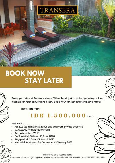 Transera Kirana Villas Seminyak Management Hotel Indonesia Transera Hotels Resorts
